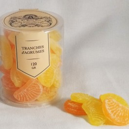 Tranches d'agrumes cylindre 120g